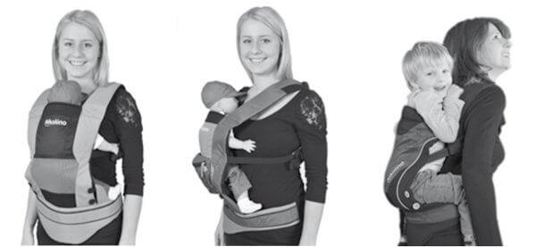 Niki Hecht Babytrage Tragevarianten