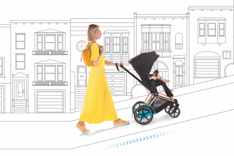 Cybex e-Priam, der erste Kinderwagen mit Elektroantrieb von Cybex